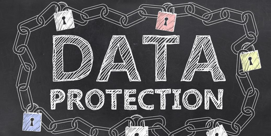 Data protection stock photo
